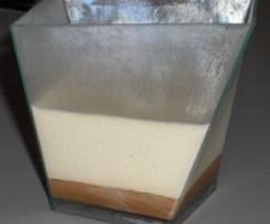 Panacotta vanille et sauce carambar