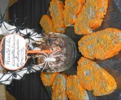 le roulé d'Halloween (carotte au boursin aux noix et olives)