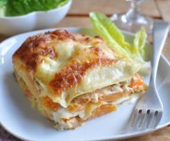 Lasagnes au potiron et poulet