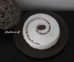 Entremet chocolat noir et noix de coco