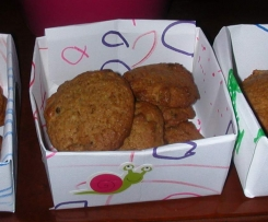 Cookies au miel et pépites de chocolat