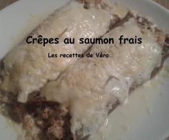 Crêpes (galettes) au sarrasin farcies au saumon frais