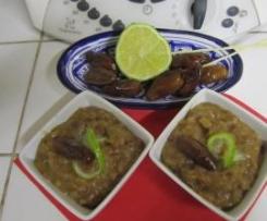 Chutney de dattes au citron vert (accompagnement de foie gras)