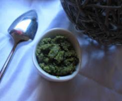 Pesto basilic noisettes maison