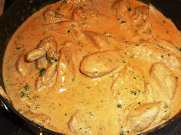 Blanc de poulet sauce moutarde par rey34 une recette de - Comment cuisiner des blancs de poulet ...