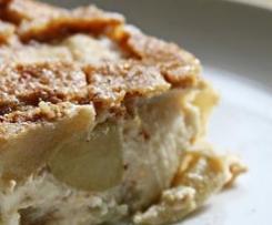 Clafoutis praliné de pommes au beurre salé