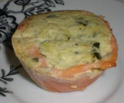 Variante petites mousse de courgette sur lit de saumon fumé