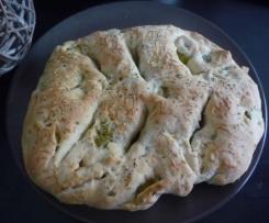 Fougasse aux olives vertes et anchois