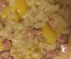 Risotto courge et marrons