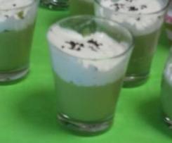 Cappuccino de petits pois à la menthe