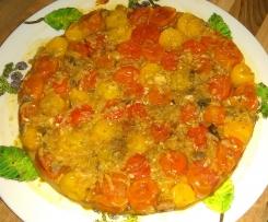 Tatin de tomate cerise au chorizo