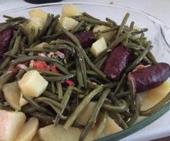Haricots Verts avec Saucisses et Pommes de terre