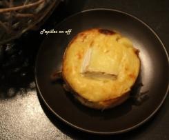 Mini clafoutis au camembert, aux pommes et au cidre