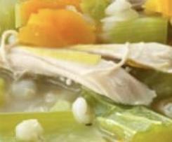 Soupe au poulet et aux légumes