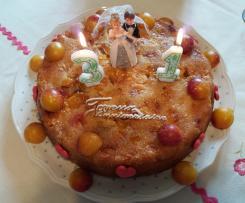 Gâteau renversé mirabelles et crumble