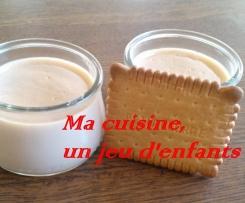 """crème biscuitée au """"petits beurre"""
