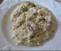 Risotto crémeux au camembert et aux champignons