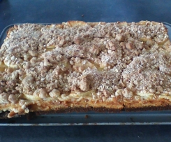 Cheesecake crumble pomme cannelle