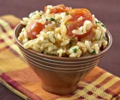 Risotto aux tomates, paprika et parmesan
