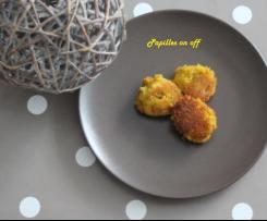 Boulettes de pois chiches, lentilles corail et blé façon falafels