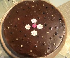 Gâteau croustillant noisette chocolat caramel