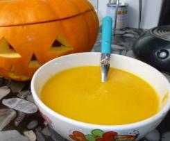Velouté de potiron-carottes aux épices douces (la soupe de la sorcière de Juliette)