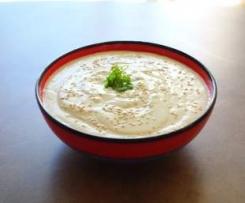 Mtabal Betjan (crème d'aubergine au sésame, recette Libanaise de mezzé froid)