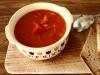 Soupe de tomates au chèvre