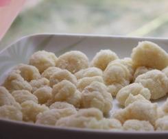 Gnocchis de panais (sans gluten/sans lait/sans oeufs/vegan)