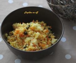 Salade de chou blanc et carottes à l'indienne
