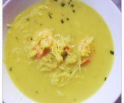 Soupe coco aux crevettes