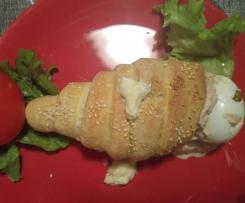 Cônes de pain farcis au thon et légumes