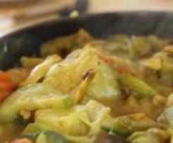 emincé de poulet aux carottes et semoule