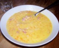 Soupe de lentilles corail aux lardons