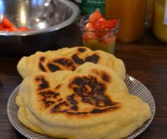 Cheese naan sauce ail et coriandre
