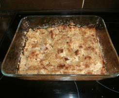 crumble aux pommes cannelle gingembre