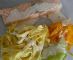 Saumon aux 3 tagliatelles et sauce au boursin
