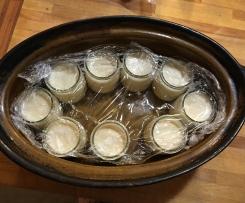 Yaourt cuit en cocotte et au four