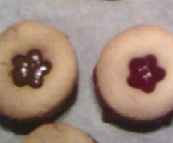 fleurs sablés au nutella/confiture