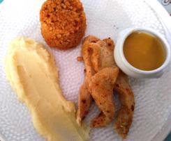 Aiguillettes de poulet en vapeur d'orange et piment d'espelette