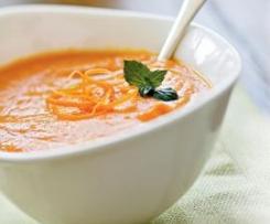 Soupe de carotte/fenouil au boursin