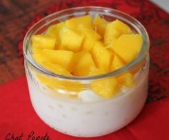 Perles du Japon au lait de coco et dés de mangue fraîche