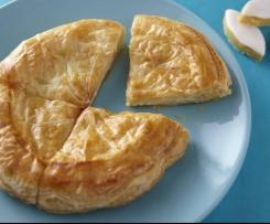 Galette des Rois, crème pâtissière aux calissons d'Aix