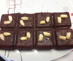 Fondant au chocolat et beurre de cacahuete