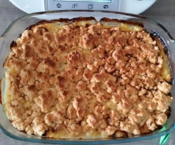Crumble pomme camembert