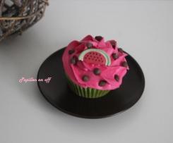 Cupcake pastèque (vanille-fraise tagada)