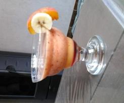 Cocktail coco banane fraise