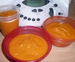 Purée de carottes  jambon