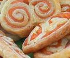 Palmiers apéritifs saumon/aneth