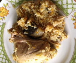 Poulet au riz et légumes au curry